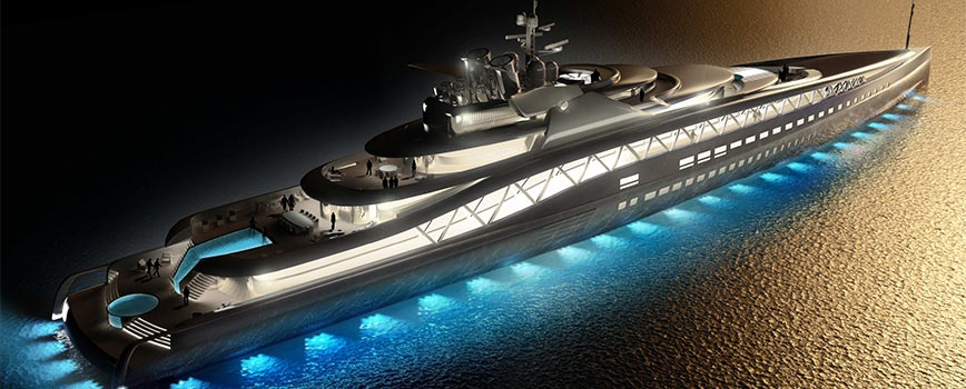 Superyacht 145m MY 'FORTISSIMO Perin Generators